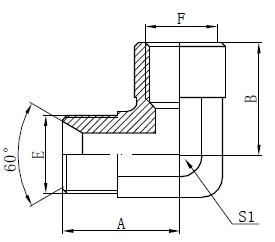 Elbow BSP Adaptor ฟิตติ้งการวาด