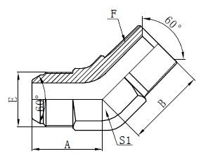 JIS GAS Elbow Connectors วาดเขียน