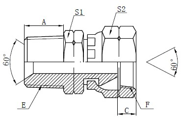 การวาดฟิตติ้งของอะแดปเตอร์ NPSM